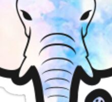 Pastel Watercolor Elephant Sticker
