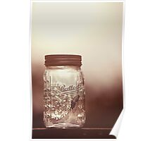 Glass jar for collecting butterflies Poster