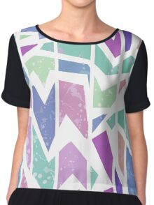 Abstract bright geometric seamless pattern print Chiffon Top