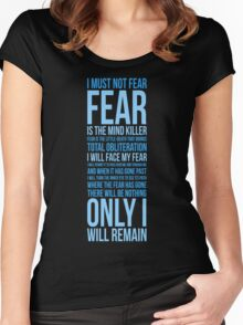 Litany Against Fear (long) Women's Fitted Scoop T-Shirt