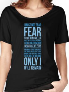 Litany Against Fear (long) Women's Relaxed Fit T-Shirt