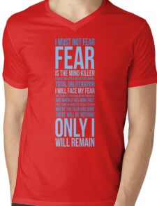 Litany Against Fear (long) Mens V-Neck T-Shirt