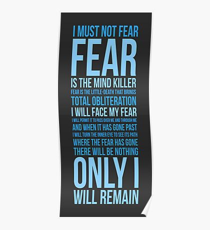 Litany Against Fear (long) Poster