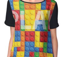 Play - seamless vector pattern of plastic parts Chiffon Top