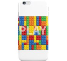 Play - seamless vector pattern of plastic parts iPhone Case/Skin