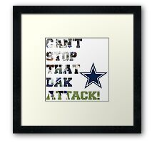 Can't Stop That Dak Attack! #CowboysNation #Dallas Framed Print