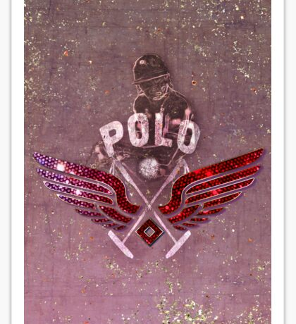 polo player red (cpc) Sticker