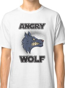 Angry Wolf design halftone save the wolves Classic T-Shirt