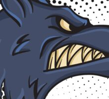Angry Wolf design halftone save the wolves Sticker