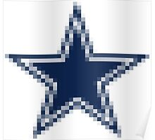 Pixelated Cowboys Logo #CowboysNation #Cowboys #DallasCowboys Poster