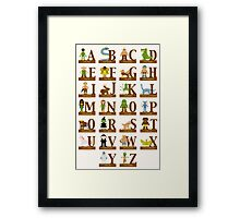 Mythical Creatures Alphabet Framed Print