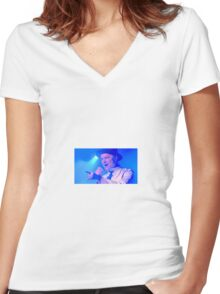 Tragically Hip's Gord Downie Women's Fitted V-Neck T-Shirt