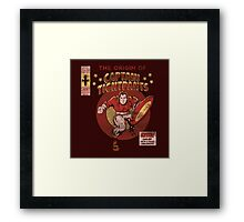 Captain Tightpants Framed Print