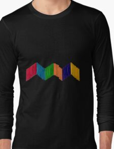 Geometric Composition with Colorful Popsicle Sticks  Long Sleeve T-Shirt