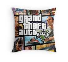 Hot Video Game of Grand Theft Auto V Throw Pillow