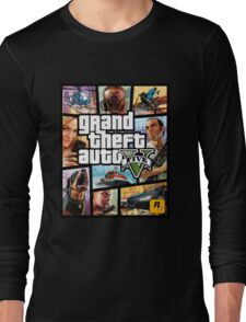 Hot Video Game of Grand Theft Auto V Long Sleeve T-Shirt
