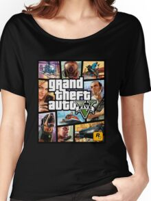 Hot Video Game of Grand Theft Auto V Women's Relaxed Fit T-Shirt