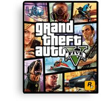 Hot Video Game of Grand Theft Auto V Canvas Print
