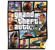 Hot Video Game of Grand Theft Auto V Poster