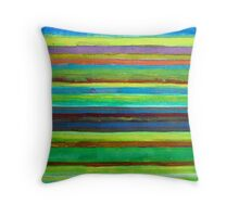 Colorful Horizontal Stripes Throw Pillow