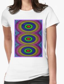 """""""PSYCHEDELIC MOTION"""" 3D Abstract Poster Print Womens Fitted T-Shirt"""