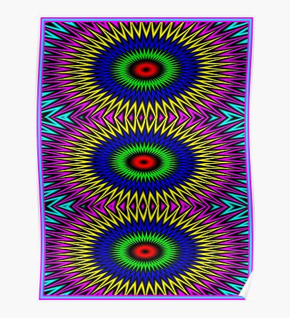 """PSYCHEDELIC MOTION"" 3D Abstract Poster Print Poster"