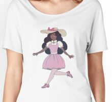 Cute Girl With Pink Dress Women's Relaxed Fit T-Shirt