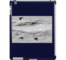 Cormorants flying across stormy seas.... Lyme Dorset UK iPad Case/Skin