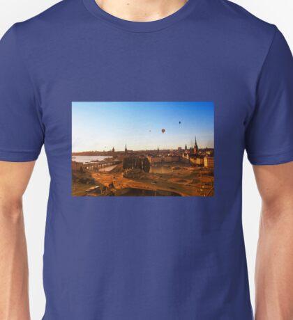 Sunset over Stockholm, SWEDEN Unisex T-Shirt