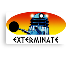 Dalek Extermination! Canvas Print