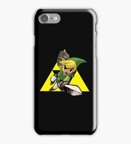 Sleek Black iPhone 5/5s Case ft. Toon Link & The Triforce  iPhone Case/Skin