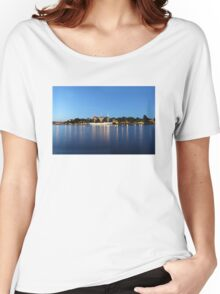 Sailing vessel in the harbour of Stockholm, Sweden Women's Relaxed Fit T-Shirt
