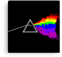 8-bit Dark Side of the Moon Canvas Print