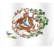 The Three Hares Poster