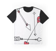 straight thru the heart Graphic T-Shirt