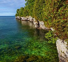 Door County Coastline by Kenneth Keifer