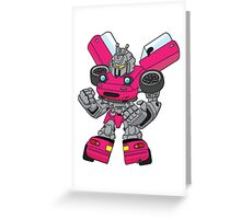 Miata Mx5 Mk1 - JDM Gundam Transformer bot - Hot Pink Greeting Card