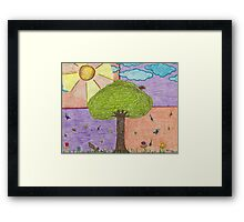Tree and Friends Framed Print