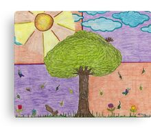 Tree and Friends Canvas Print