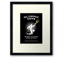 Olympic Cove - Where the Gods Come to Play (Dark) Framed Print