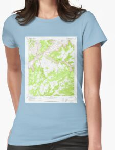 USGS TOPO Map Arizona AZ Red Willow Spring 313076 1970 24000 Womens Fitted T-Shirt