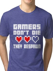 Gamers Dont Die They Respawn Tri-blend T-Shirt