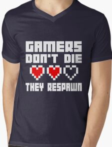 Gamers Dont Die They Respawn Mens V-Neck T-Shirt