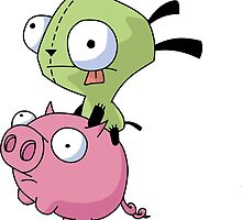 Gir Riding Pig  by Kirstie Rutter