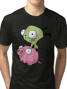Gir Riding Pig  Tri-blend T-Shirt
