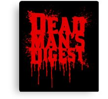Dead Man's Digest Canvas Print