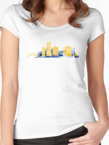Polygonal Milwaukee | Brewers  Women's Fitted Scoop T-Shirt