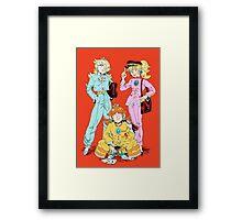 Gakuran Princesses Framed Print