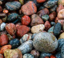 """Colorful Stones of Lake Superior""  Sticker"