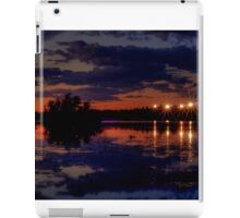 Lights Over Willow Lake At Sunset iPad Case/Skin